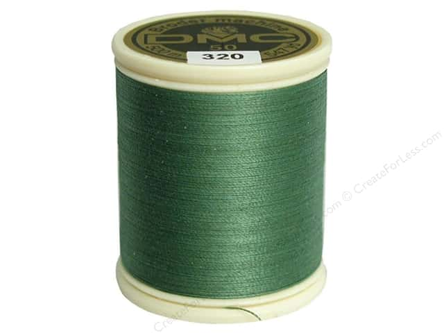 DMC Cotton Machine Embroidery Thread 50 wt. 547 yd. #320 Medium Pistachio Green