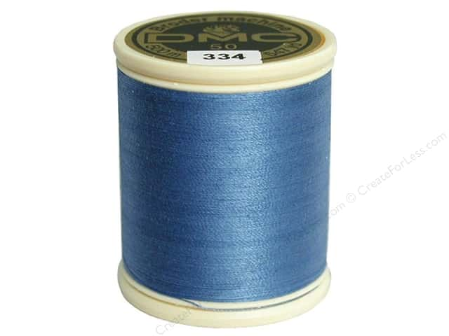DMC Cotton Machine Embroidery Thread 50 wt. 547 yd. #334 Medium Baby Blue