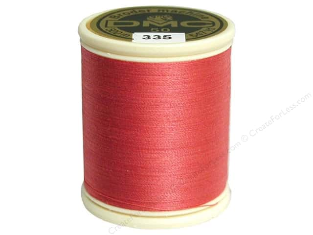 DMC Cotton Machine Embroidery Thread 50 wt. 547 yd. #335 Rose