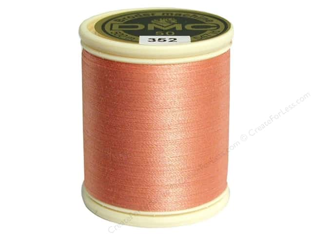 DMC Cotton Machine Embroidery Thread 50 wt. 547 yd. #352 Light Coral