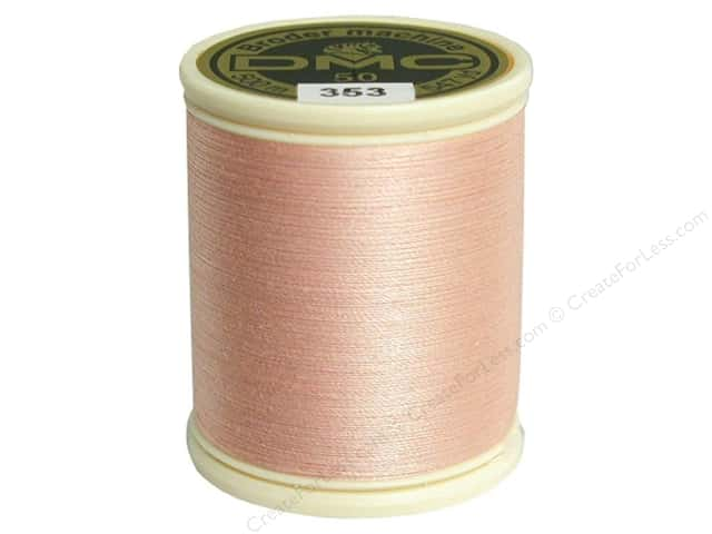 DMC Cotton Machine Embroidery Thread 50 wt. 547 yd. #353 Peach