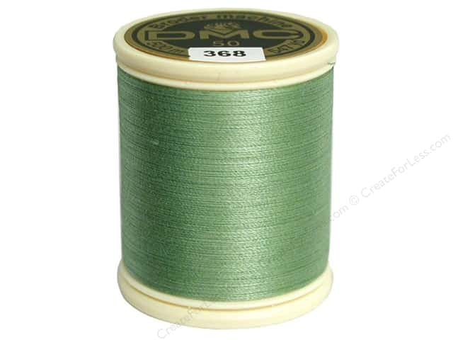 DMC Cotton Machine Embroidery Thread 50 wt. 547 yd. #368 Light Pistachio Green