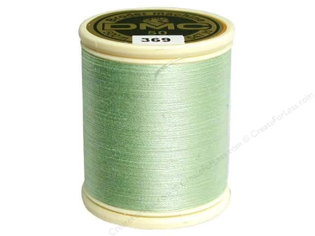 DMC Cotton Machine Embroidery Thread 50 wt. 547 yd. #369 Very Light Pistachio