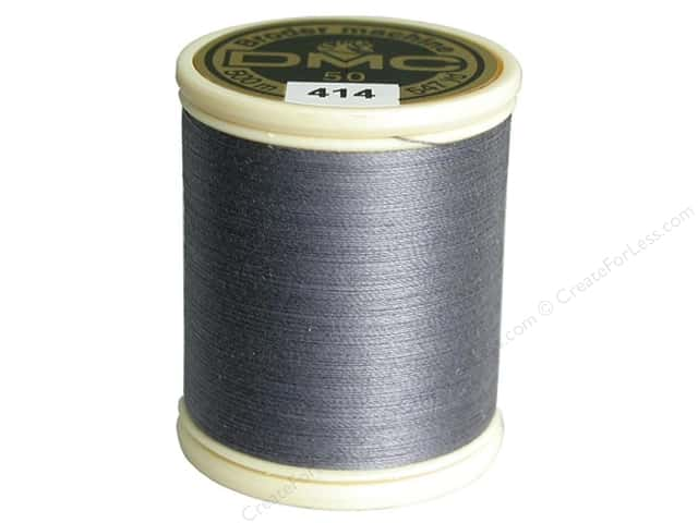 DMC Cotton Machine Embroidery Thread 50 wt. 547 yd. #414 Dark Steel Grey
