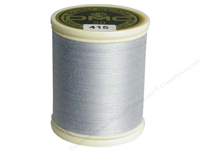 DMC Cotton Machine Embroidery Thread 50 wt. 547 yd. #415 Pearl Grey
