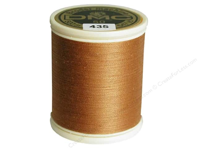 DMC Cotton Machine Embroidery Thread 50 wt. 547 yd. #435 Very Light Brown
