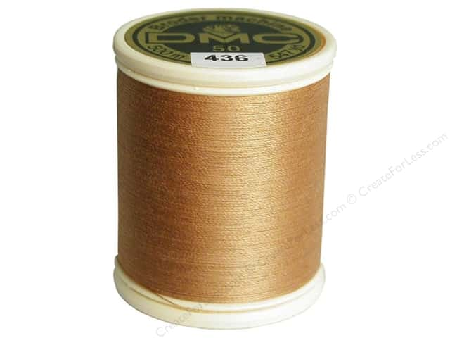 DMC Cotton Machine Embroidery Thread 50 wt. 547 yd. #436 Tan