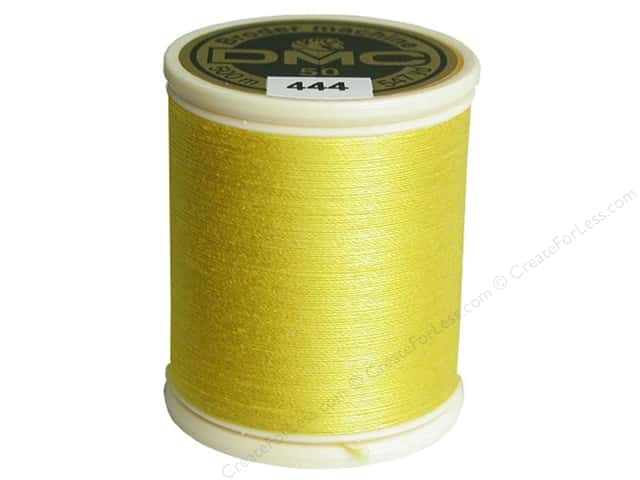 DMC Cotton Machine Embroidery Thread 50 wt. 547 yd. #444 Dark Lemon