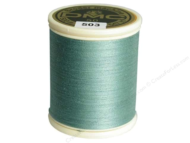 DMC Cotton Machine Embroidery Thread 50 wt. 547 yd. #503 Medium Blue Green