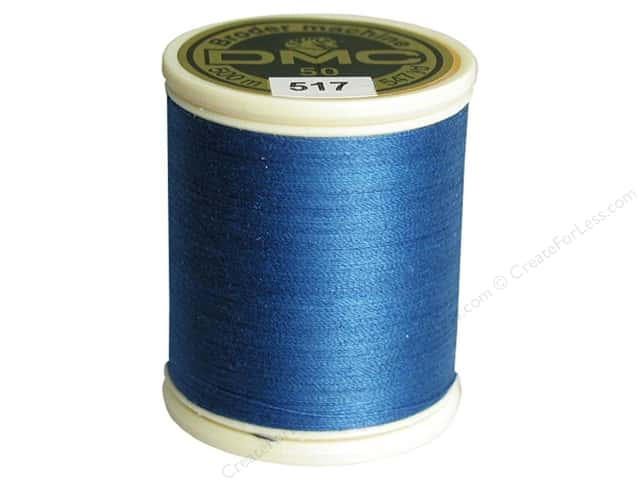 DMC Cotton Machine Embroidery Thread 50 wt. 547 yd. #517 Dark Wedgewood