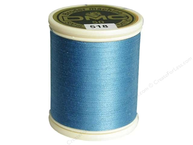 DMC Cotton Machine Embroidery Thread 50 wt. 547 yd. #518 Light Wedgewood