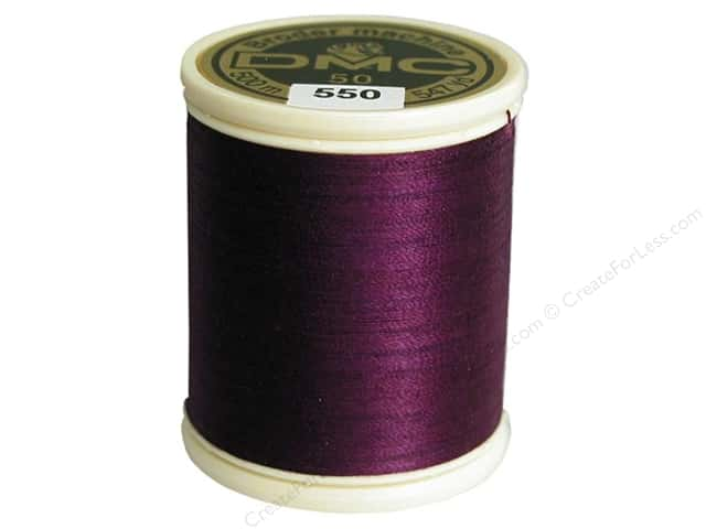 DMC Cotton Machine Embroidery Thread 50 wt. 547 yd. #550 Very Dark Violet