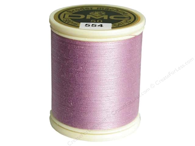 DMC Cotton Machine Embroidery Thread 50 wt. 547 yd. #554 Light Violet