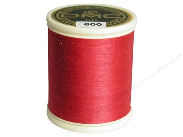 DMC Cotton Machine Embroidery Thread 50 wt. 547 yd. #600 Very Dark Cranberry
