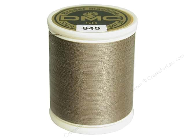 DMC Cotton Machine Embroidery Thread 50 wt. 547 yd. #640 Very Dark Beige Grey