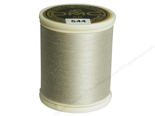 DMC Cotton Machine Embroidery Thread 50 wt. 547 yd. #644 Medium Beige Grey