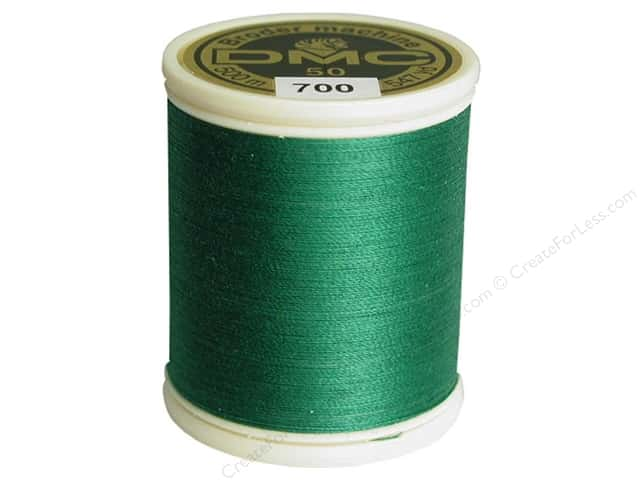 DMC Cotton Machine Embroidery Thread 50 wt. 547 yd. #700 Bright Green