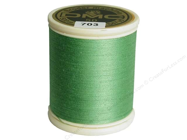 DMC Cotton Machine Embroidery Thread 50 wt. 547 yd. #703 Chartreuse