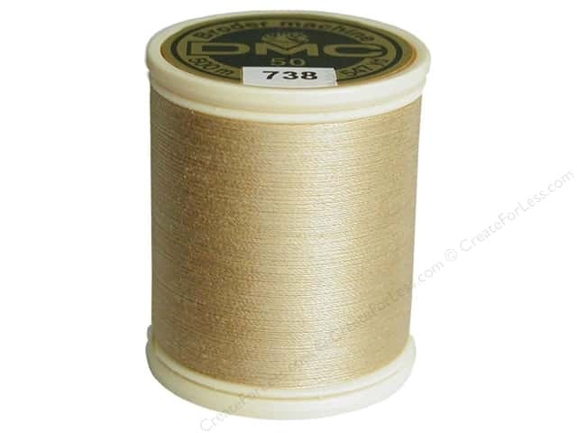 DMC Cotton Machine Embroidery Thread 50 wt. 547 yd. #738 Very Light Tan