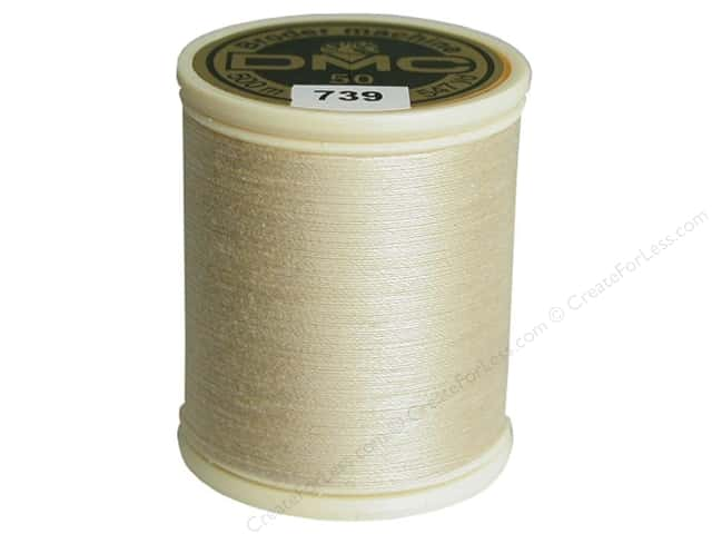 DMC Cotton Machine Embroidery Thread 50 wt. 547 yd. #739 Ultra Very Light Tan