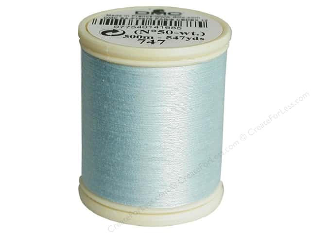 DMC Cotton Machine Embroidery Thread 50 wt. 547 yd. #747 Very Light Sky Blue