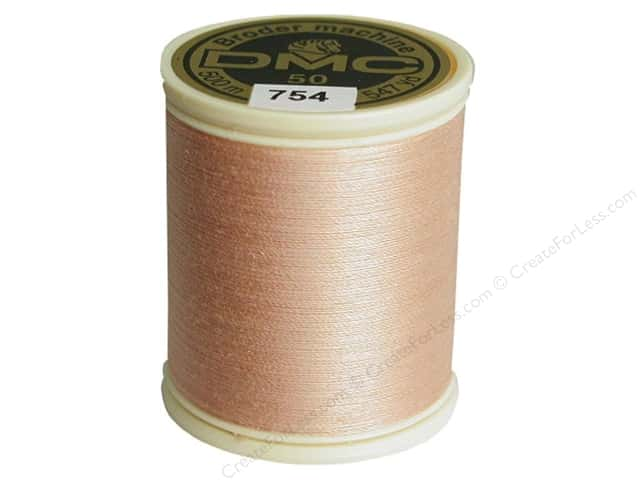 DMC Cotton Machine Embroidery Thread 50 wt. 547 yd. #754 Light Peach