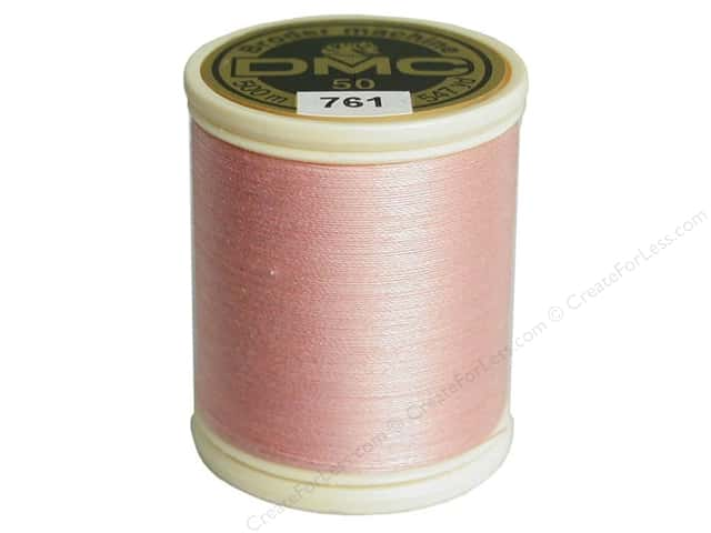 DMC Cotton Machine Embroidery Thread 50 wt. 547 yd. #761 Light Salmon