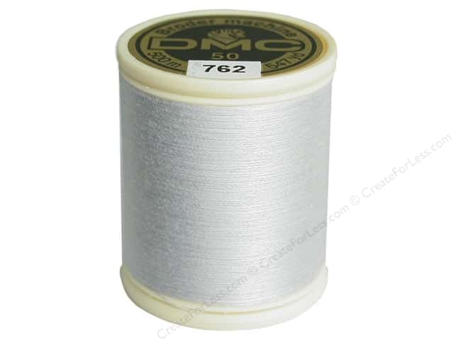 DMC Cotton Machine Embroidery Thread 50 wt. 547 yd. #762 Very Light Pearl Grey