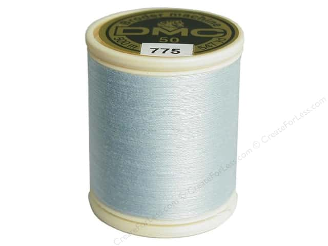 DMC Cotton Machine Embroidery Thread 50 wt. 547 yd. #775 Very Light Baby Blue