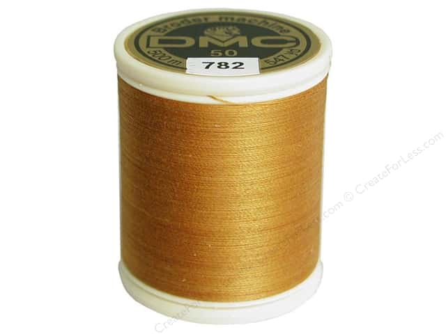 DMC Cotton Machine Embroidery Thread 50 wt. 547 yd. #782 Dark Topaz