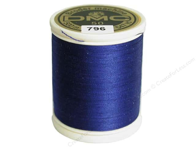 DMC Cotton Machine Embroidery Thread 50 wt. 547 yd. #796 Dark Royal Blue