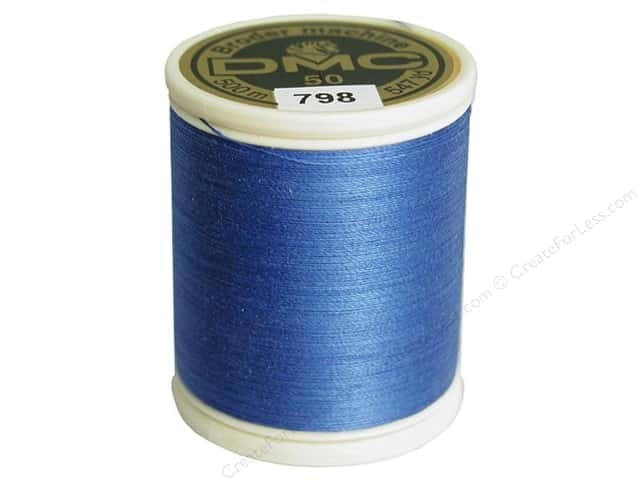DMC Cotton Machine Embroidery Thread 50 wt. 547 yd. #798 Dark Delft Blue