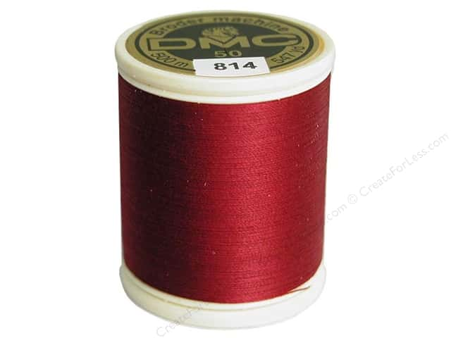 DMC Cotton Machine Embroidery Thread 50 wt. 547 yd. #814 Dark Garnet