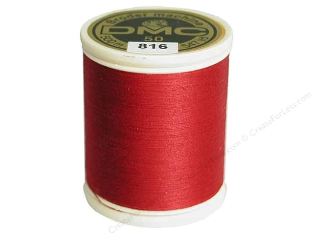 DMC Cotton Machine Embroidery Thread 50 wt. 547 yd. #816 Garnet