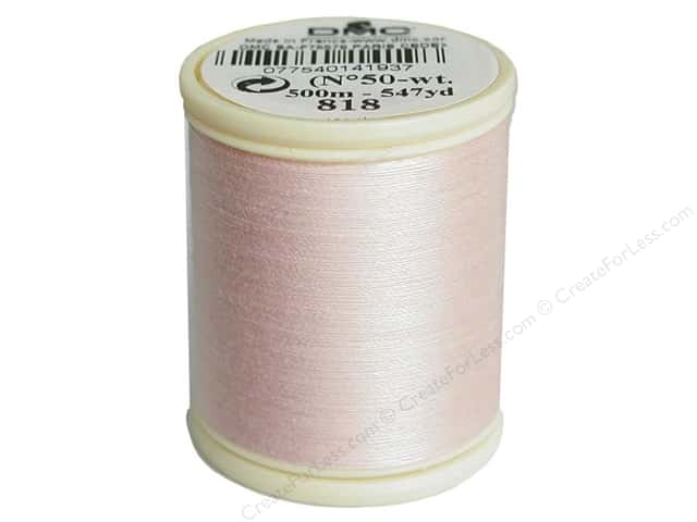 DMC Cotton Machine Embroidery Thread 50 wt. 547 yd. #818 Baby Pink