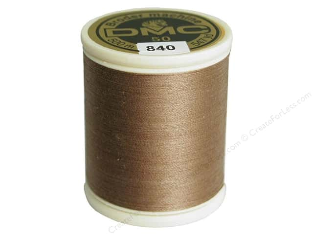 DMC Cotton Machine Embroidery Thread 50 wt. 547 yd. #840 Medium Beige Brown