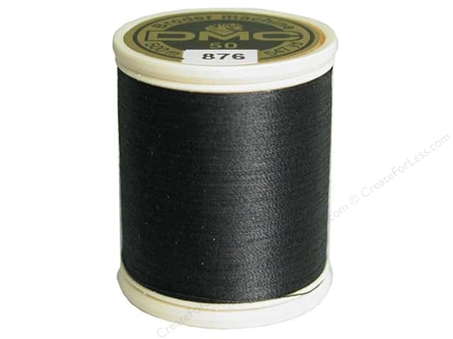 DMC Cotton Machine Embroidery Thread 50 wt. 547 yd. #876 Varigated Dark Gray