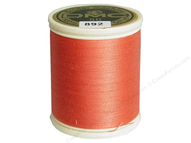 DMC Cotton Machine Embroidery Thread 50 wt. 547 yd. #892 Medium Carnation