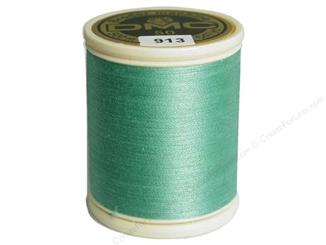 DMC Cotton Machine Embroidery Thread 50 wt. 547 yd. #913 Medium Nile Green