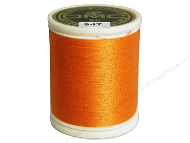 DMC Cotton Machine Embroidery Thread 50 wt. 547 yd. #947 Burnt Orange