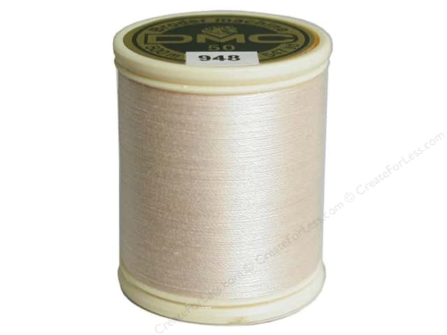 DMC Cotton Machine Embroidery Thread 50 wt. 547 yd. #948 Very Light Peach