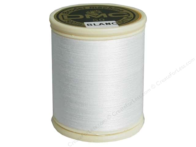 DMC Cotton Machine Embroidery Thread 50 wt. 547 yd. White