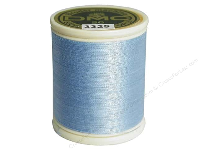DMC Cotton Machine Embroidery Thread 50 wt. 547 yd. #3325 Light Baby Blue