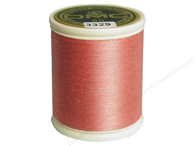 DMC Cotton Machine Embroidery Thread 50 wt. 547 yd. #3329 Light Raspberry