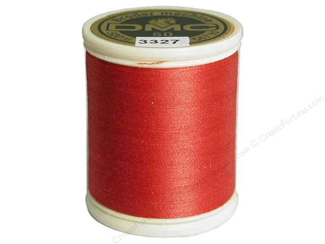 DMC Cotton Machine Embroidery Thread 50 wt. 547 yd. #3327 Medium Raspberry