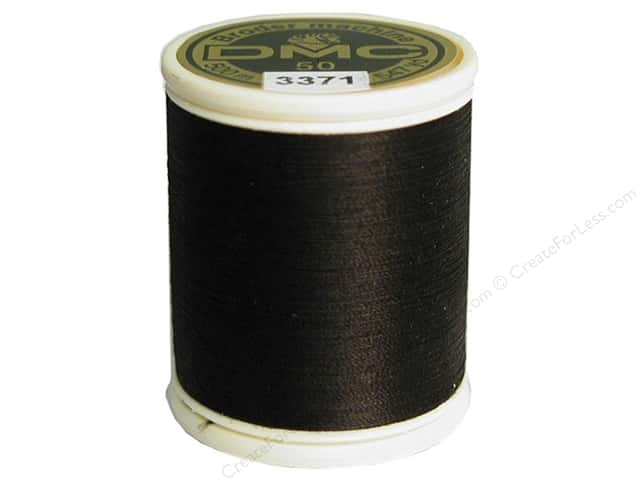 DMC Cotton Machine Embroidery 50wt Thread 547yd #3371 Black Brown