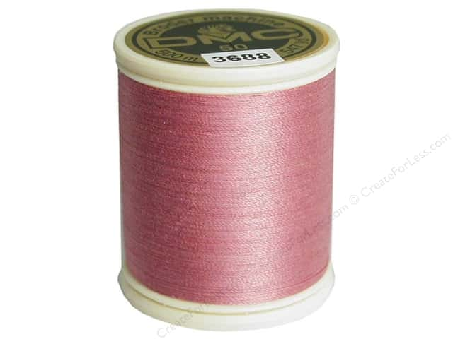 DMC Cotton Machine Embroidery Thread 50 wt. 547 yd. #3688 Medium Mauve