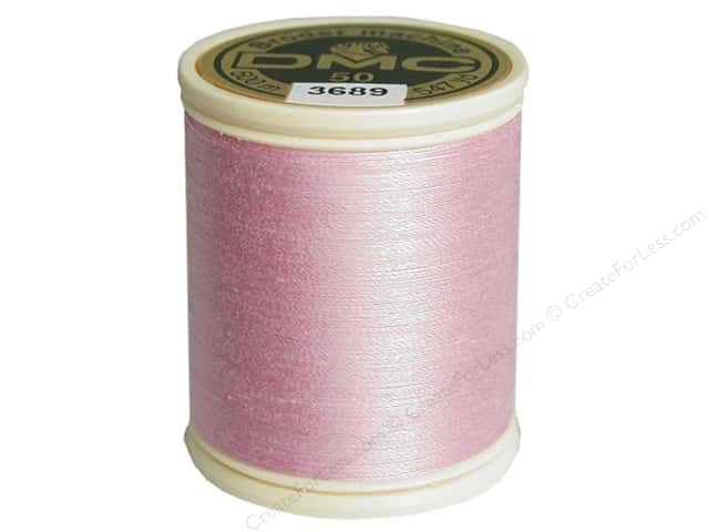 DMC Cotton Machine Embroidery Thread 50 wt. 547 yd. #3689 Light Mauve