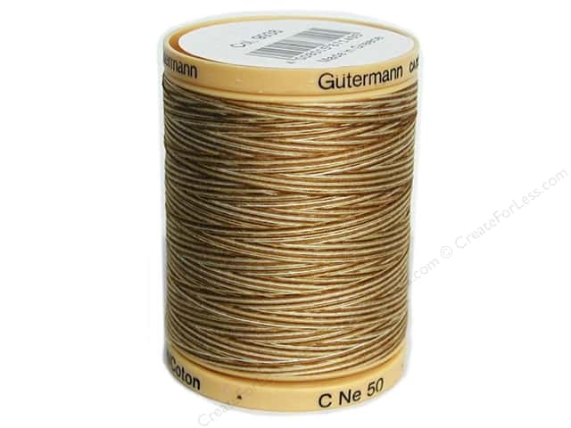 Gutermann 100% Natural Cotton Sewing Thread 875 yd. #9938 Variegated Coffee & Cream