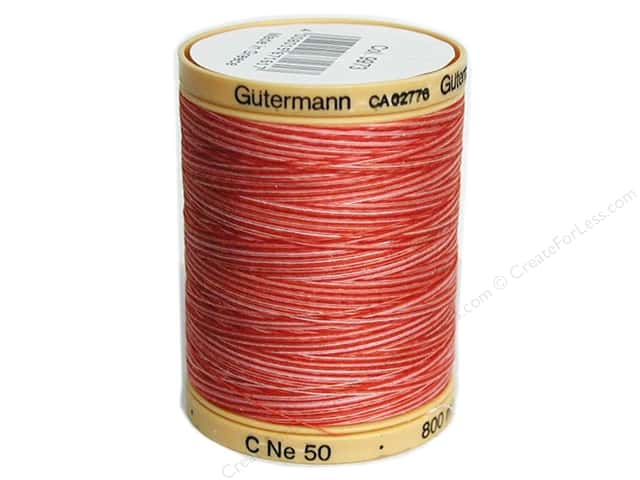 Gutermann 100% Natural Cotton Sewing Thread 875 yd. #9973 Variegated Ruby Red